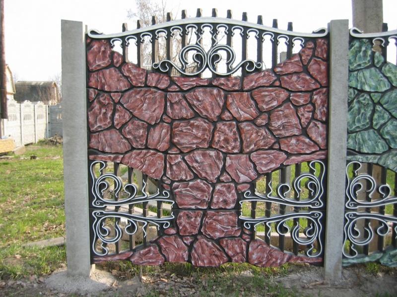 Бетонный забор секционный своими руками